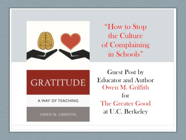 Guest Post We Need To Stop Looking For >> How To Stop The Culture Of Complaining In Schools Guest Post By