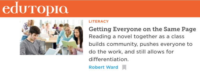 Whole-Class Novels Edutopia