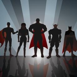 superhero sillohete